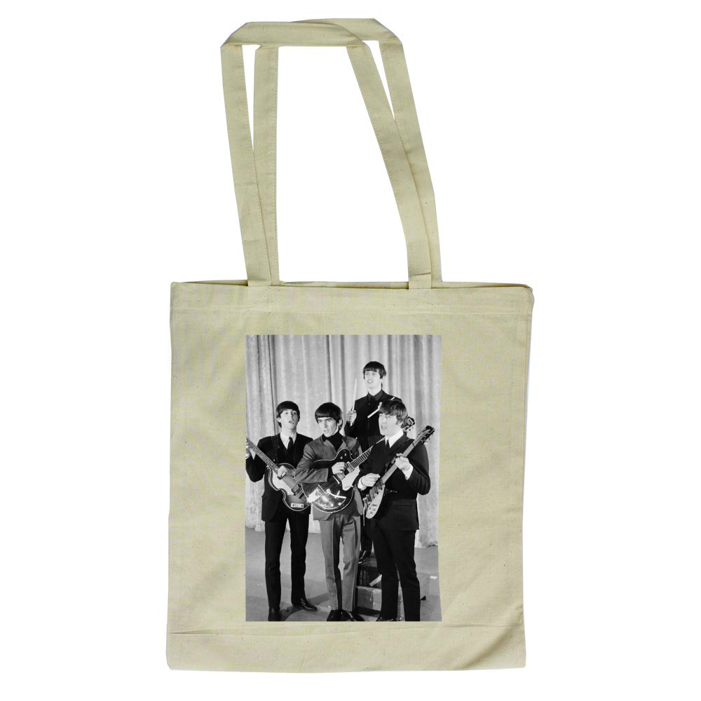 The Beatles: 1964 John Lennon Paul.. Tote Bag