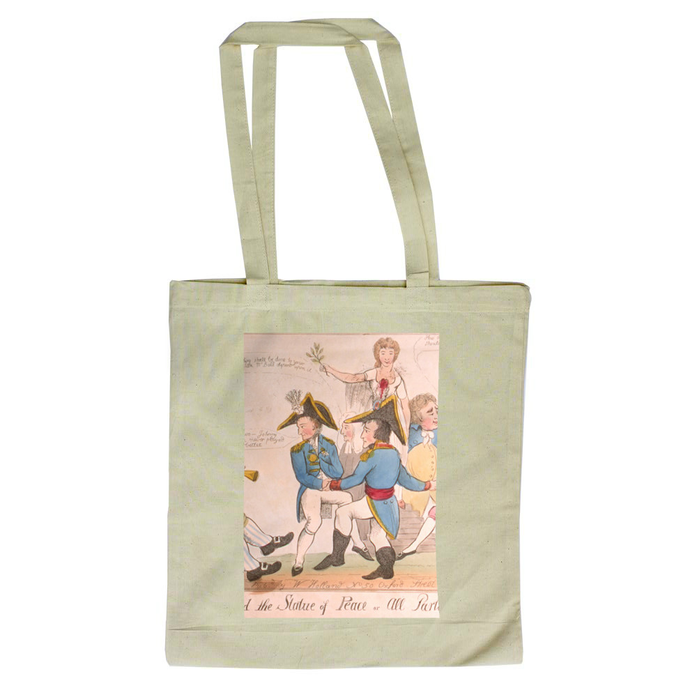 A Jig Round the Statue of Peace or All Parties Reconciled Tote Bag