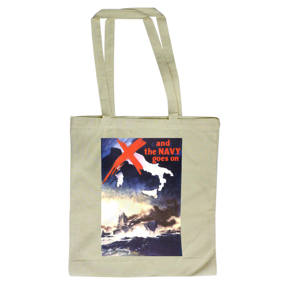 And the Navy Goes On Tote Bag