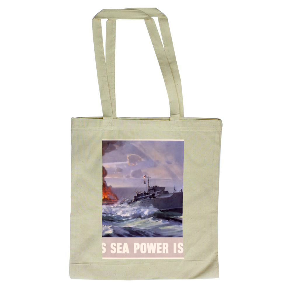 Britain's Sea Power is Yours! MTB's Attack at Dawn Tote Bag