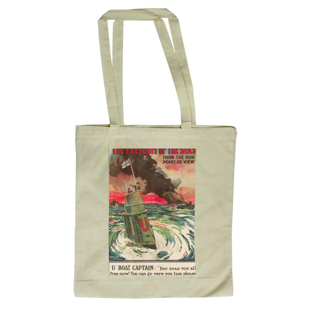 The Freedom of the Seas from the Hun Point of View Tote Bag
