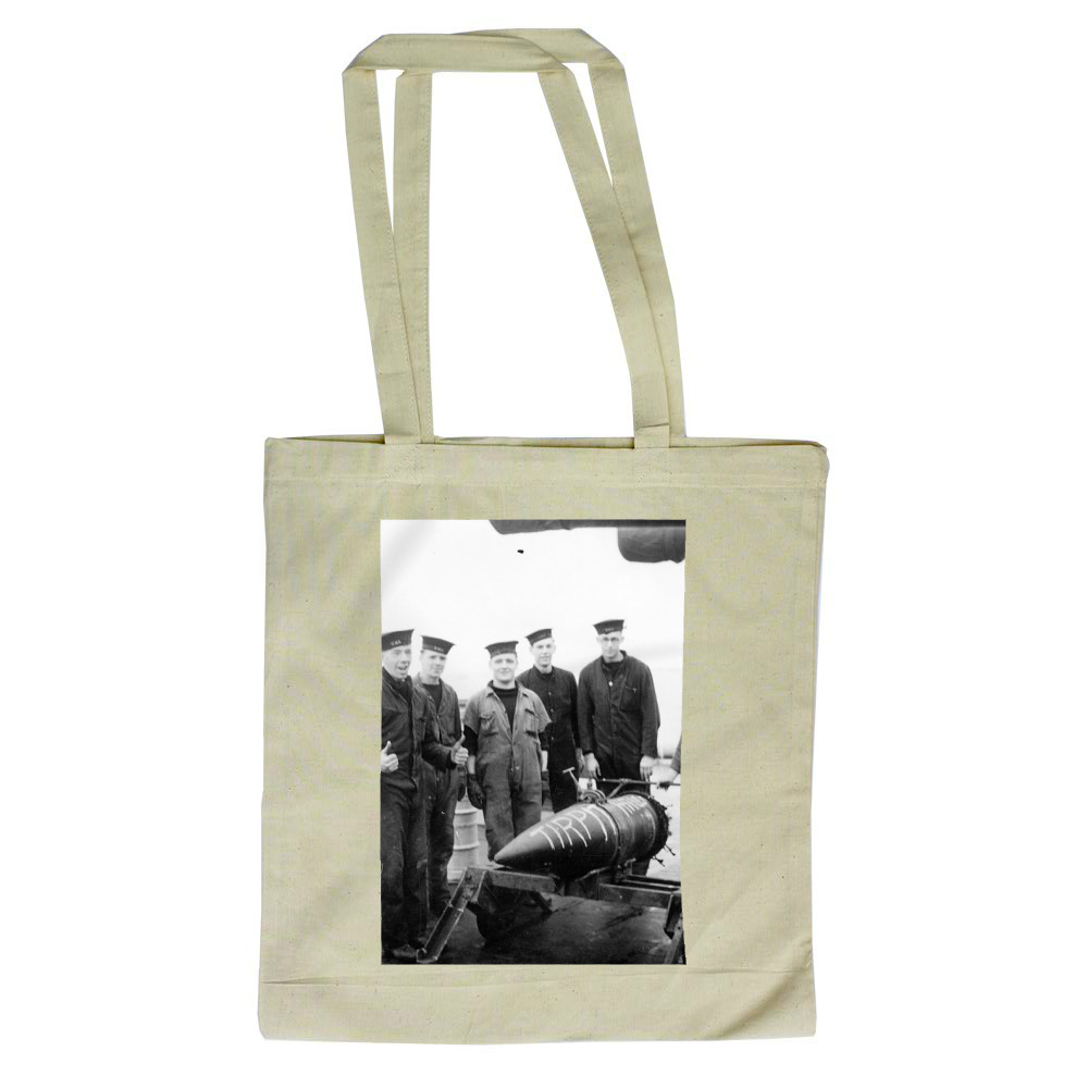 14inch Shell and Barrow Party on HMS Duke of York Tote Bag