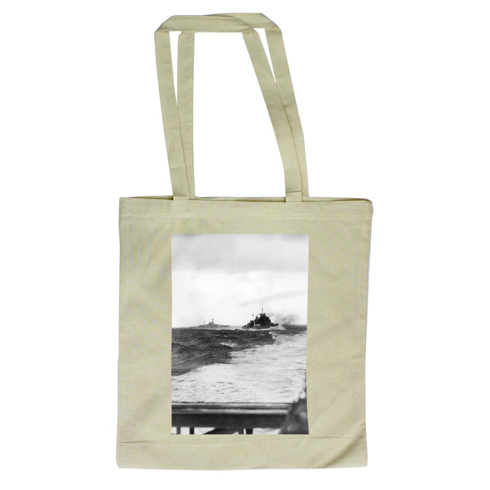 Force H Going into Action off Cape Spartivento Tote Bag