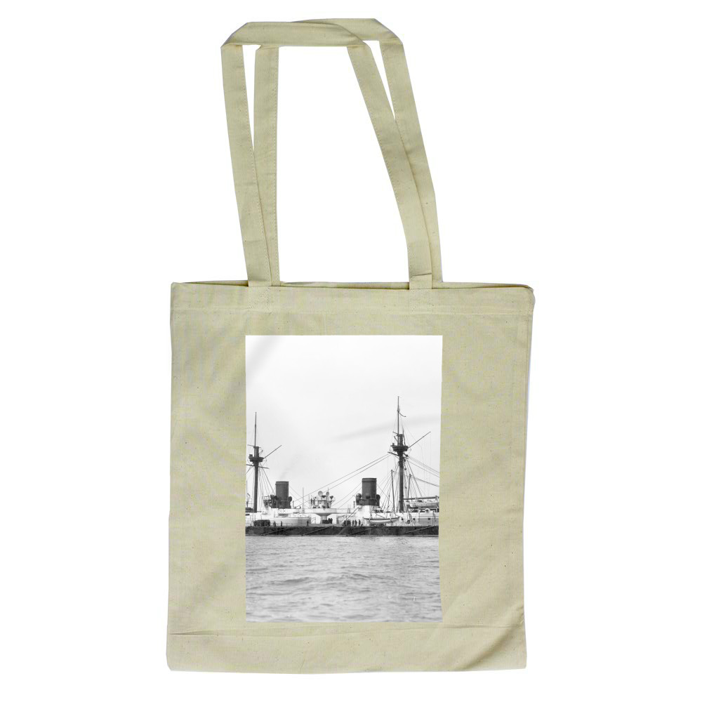 HMS Inflexible After Conversion to Military Rig Tote Bag