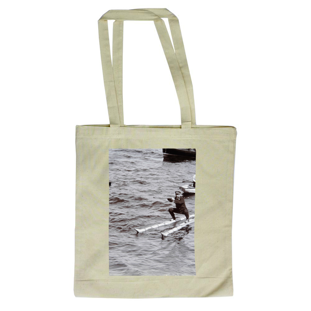 Norwegian Naval Officer Waterskiing, 1908 Tote Bag
