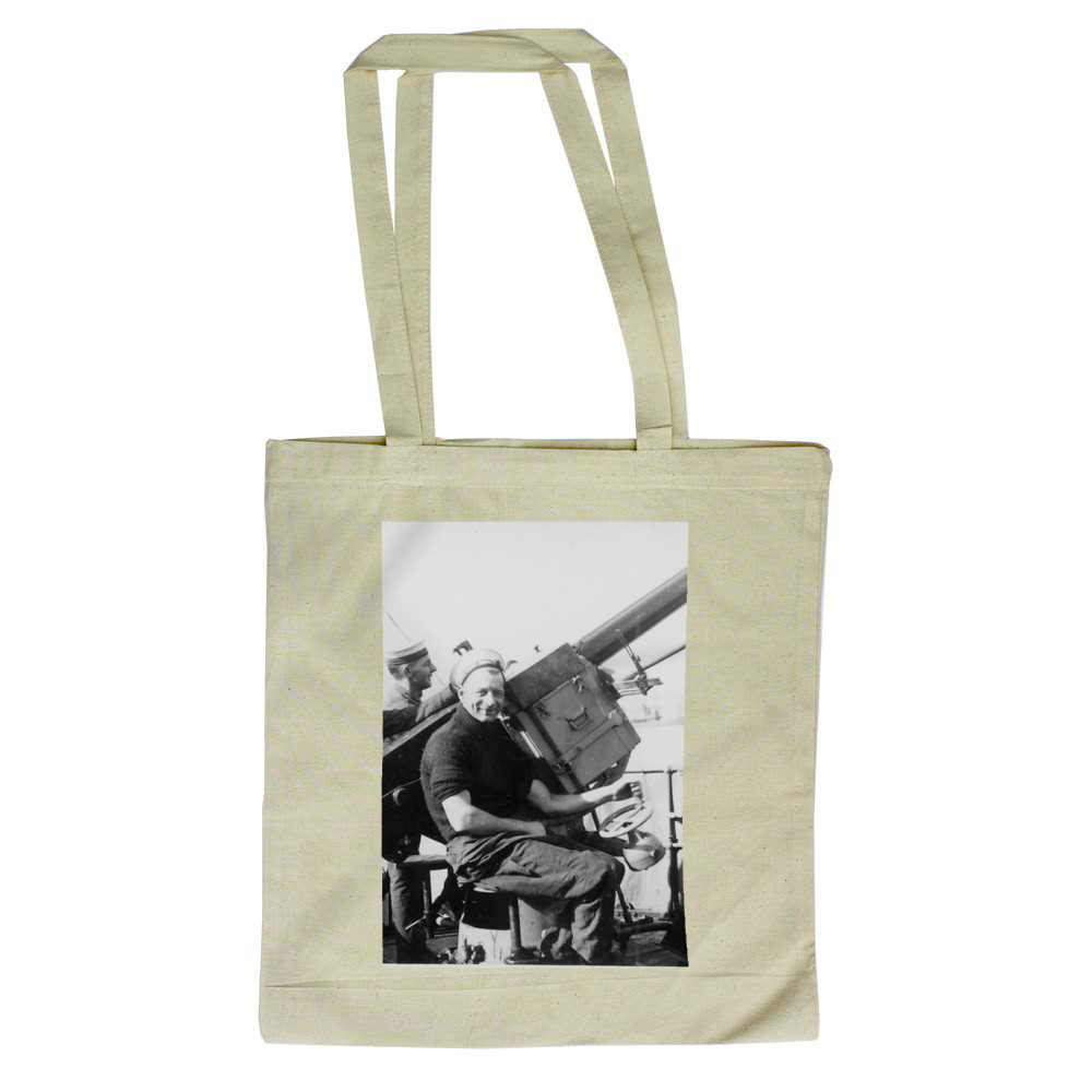 Single 2pdr Pom-pom AA Gun on HMS Brilliant Tote Bag