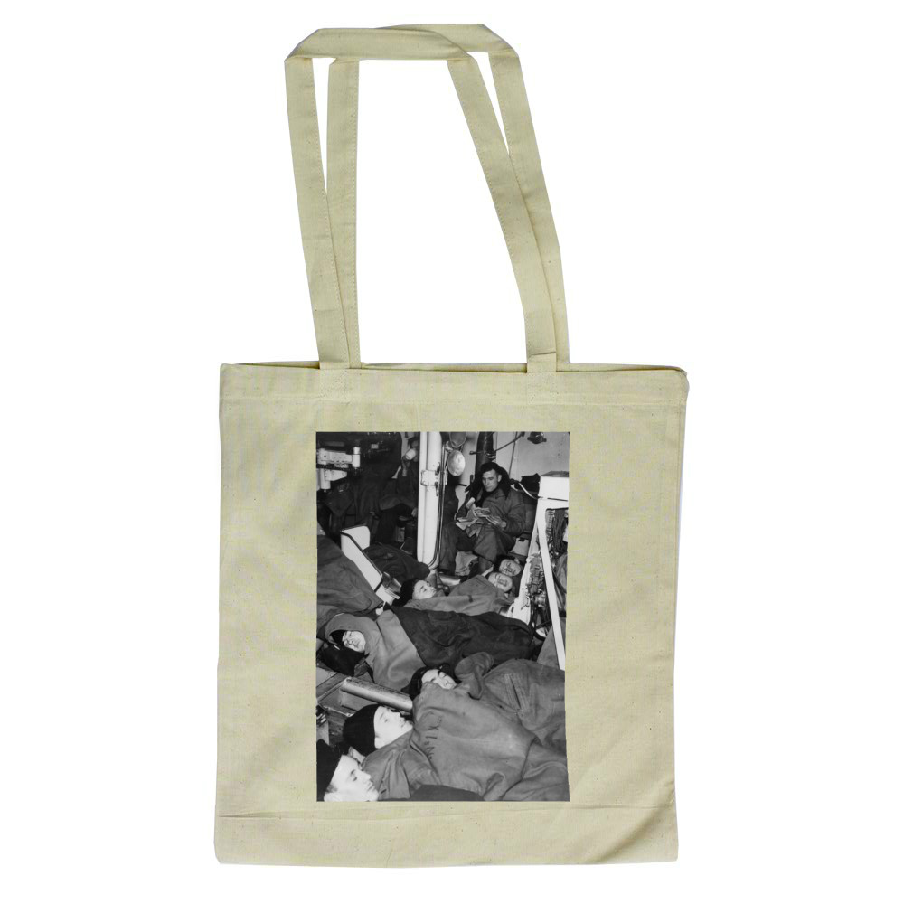 Sleeping at Action Stations Tote Bag