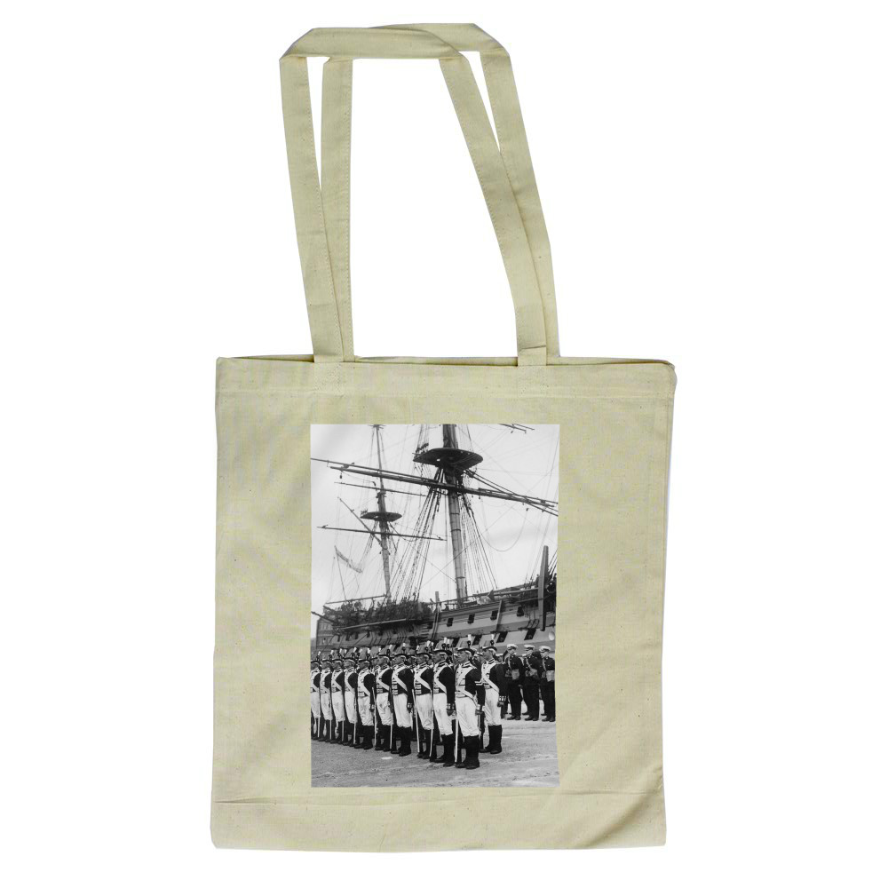 Ceremony Beside HMS Victory, 1930s Tote Bag
