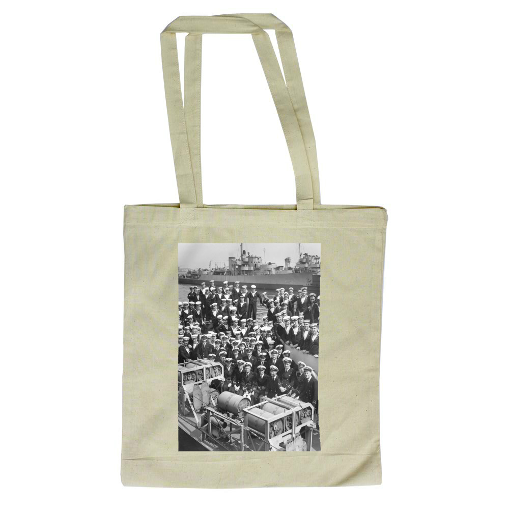 Officers and Ratings on Board HMS Zanzibar Tote Bag