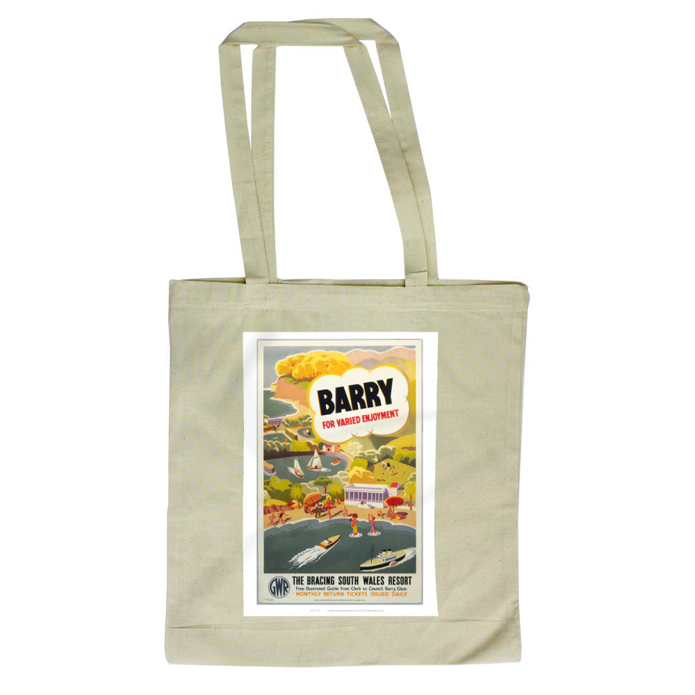 'Barry for Varied Enjoyment', GWR poster, c.1930s.    Tote Bag