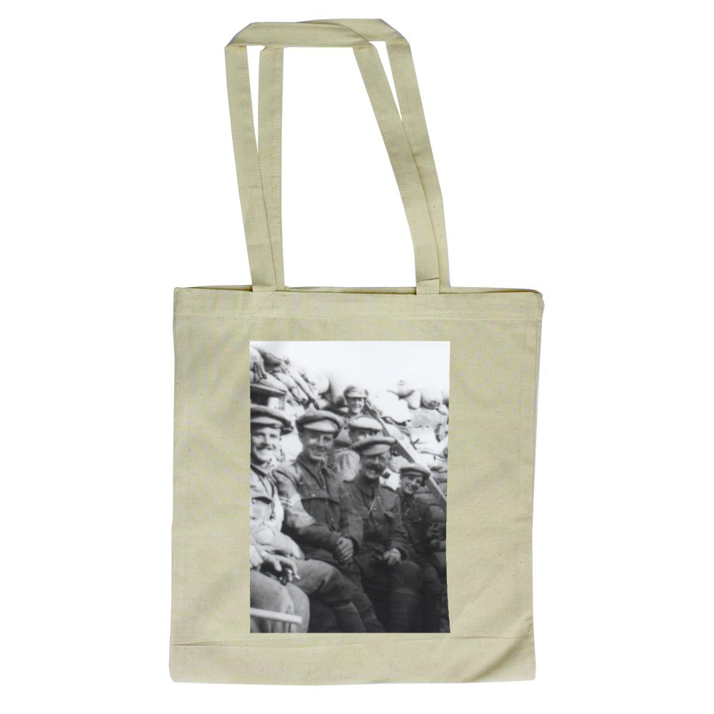 'C' Company Royal Marines Light Infantry in trenches at Gallipolli.. Tote Bag