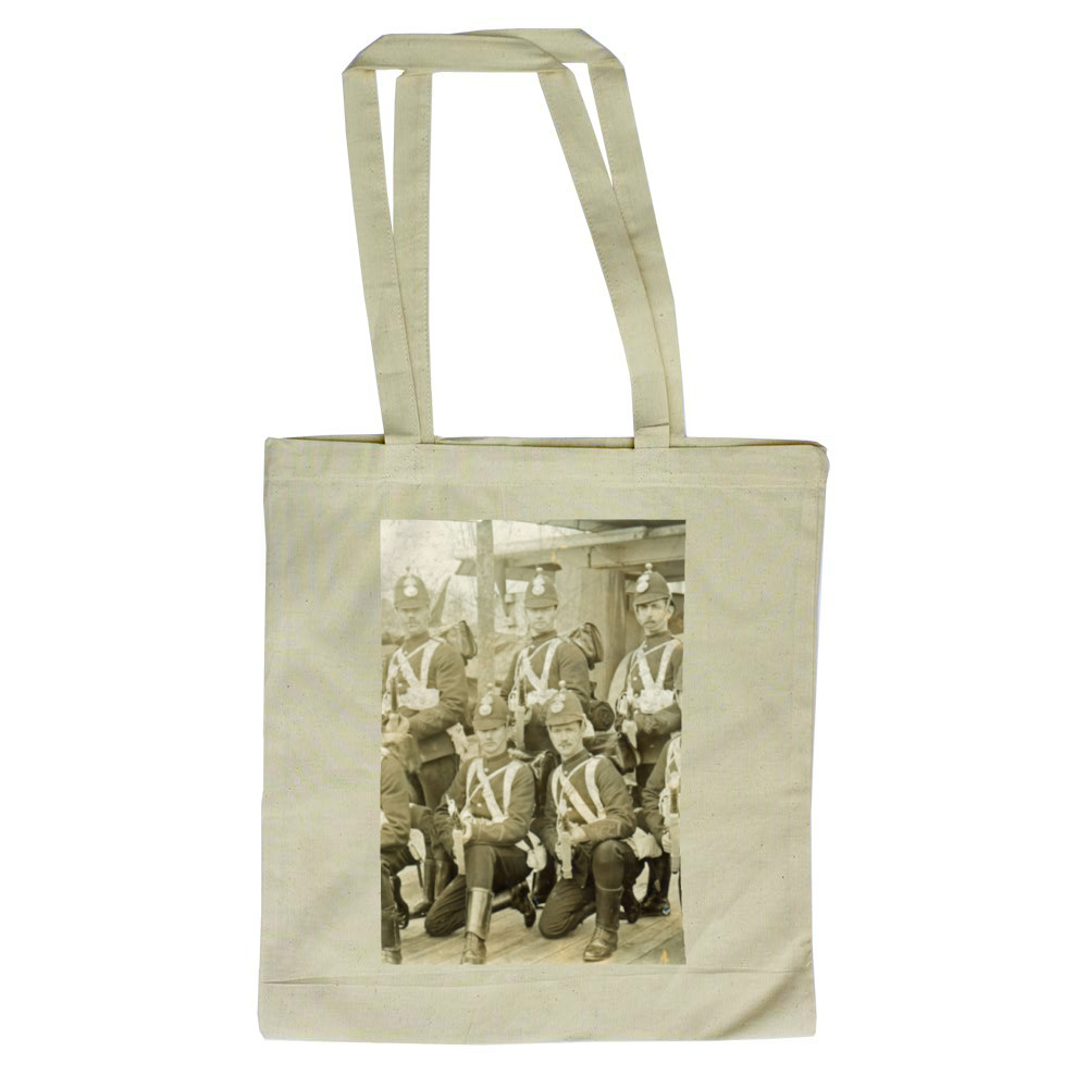 Royal Marine Artillery detachment aboard an unidentified warship, c1890... Tote Bag