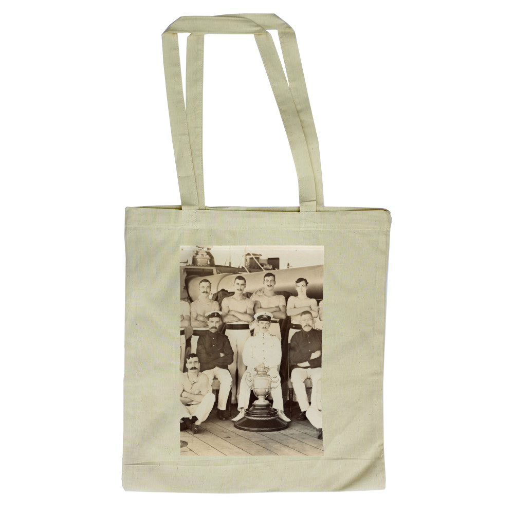 Royal Marines of the Royal Marine Detachment of the battleship HMS Prince.. Tote Bag