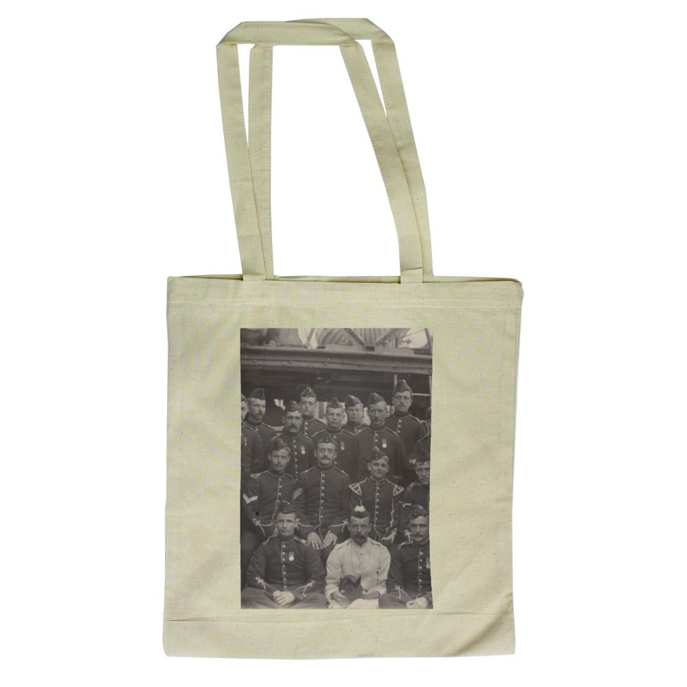 Royal Marine Light Infantry Detachment at the base ship HMS Wildfire,.. Tote Bag
