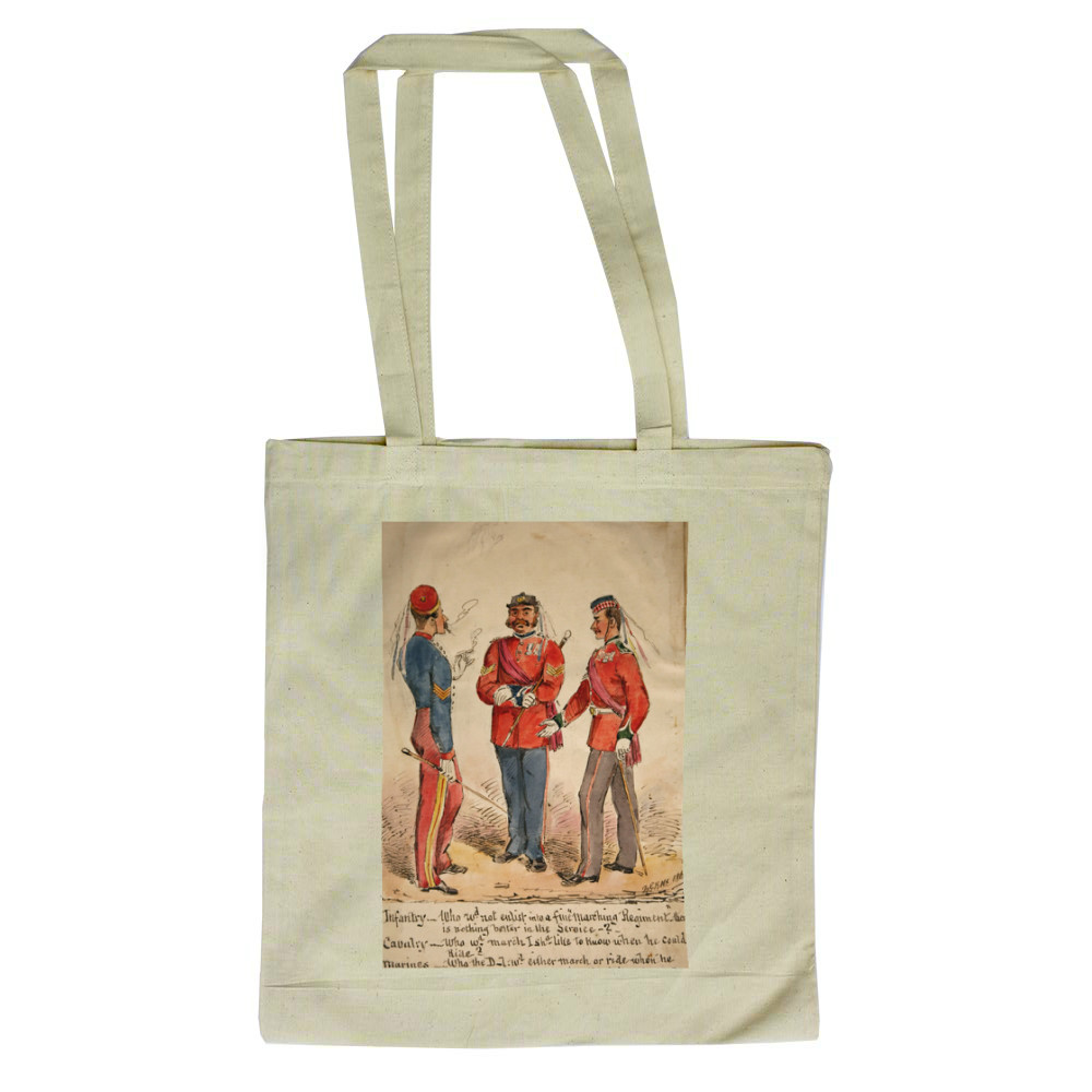 Infantry, Cavalry and Marines Discussion 1869 Tote Bag