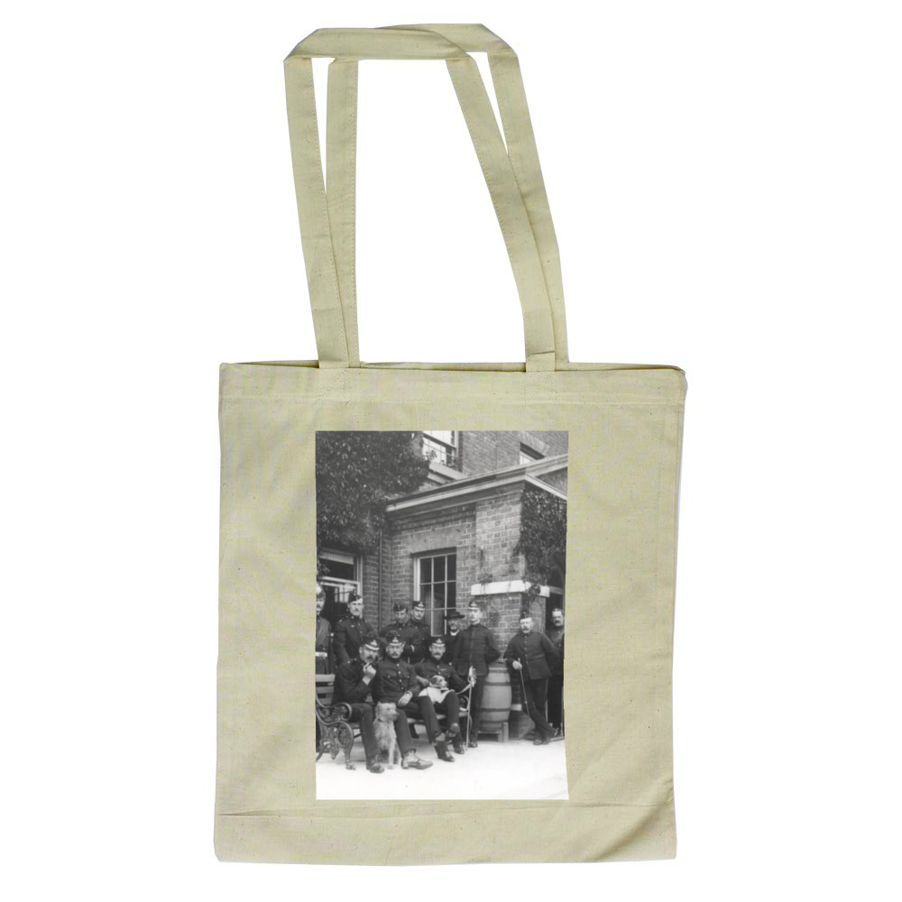 Royal Marine Officers outside the Officers' Mess, Depot Royal Marines.. Tote Bag