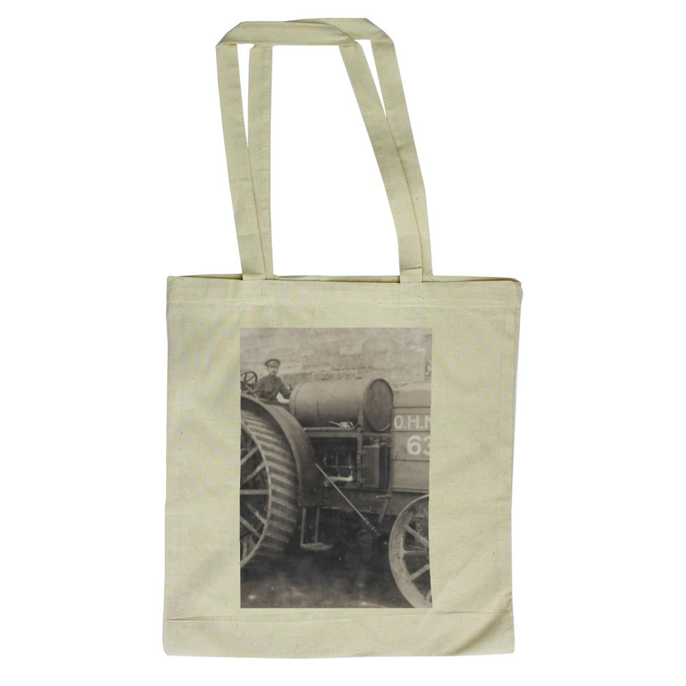 A Foster-Daimler 105hp artillery tractor operated by the  Royal Marine.. Tote Bag
