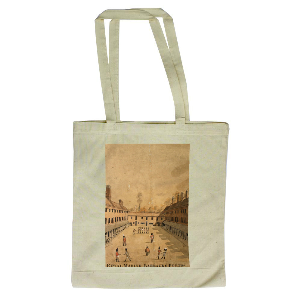 watercolour, Royal Marine Barracks, Portsmouth, Hampshire, undated. Tote Bag