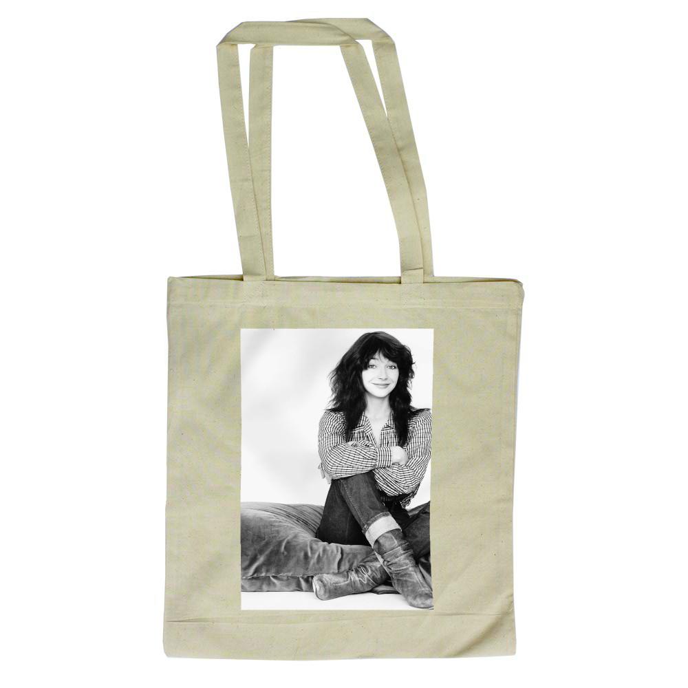Kate Bush Singer Sitting On A Giant Cushion September 1983  Tote Bag