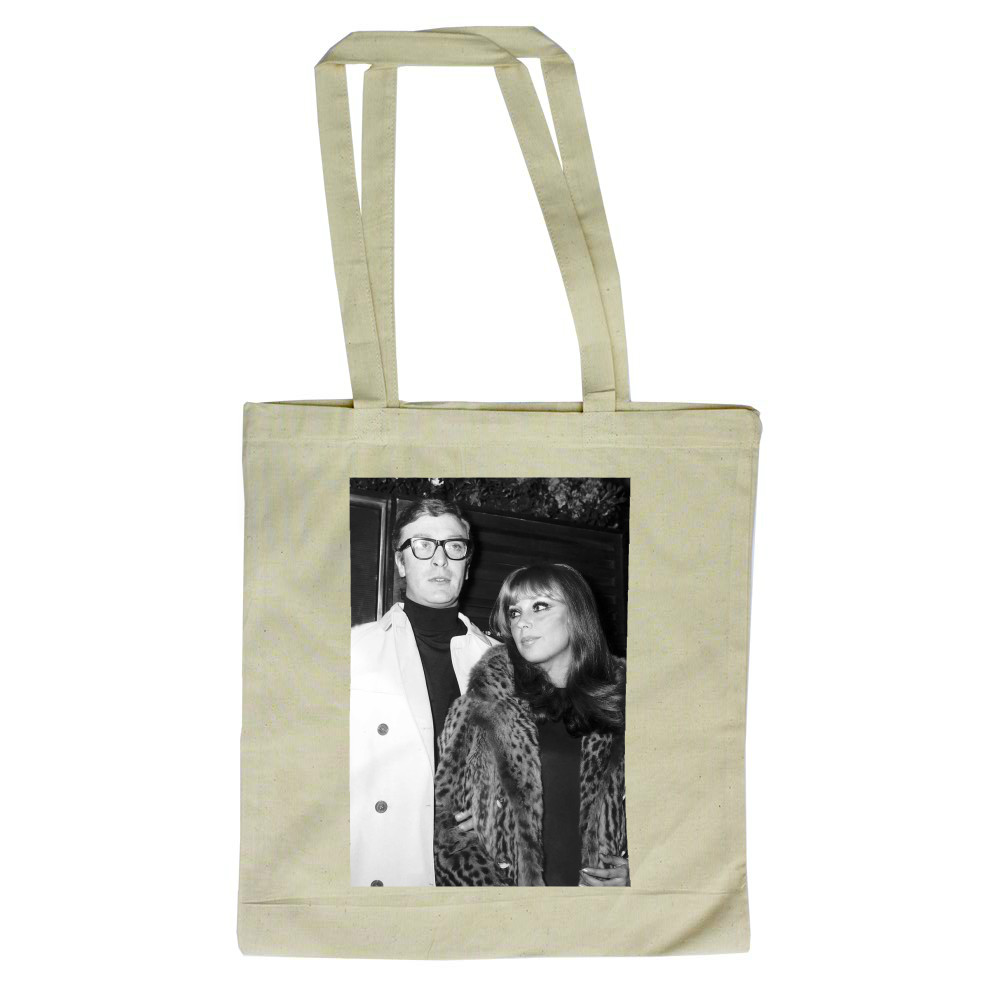 Michael Caine actor and girlfriend Elizabeth Ercy Tote Bag