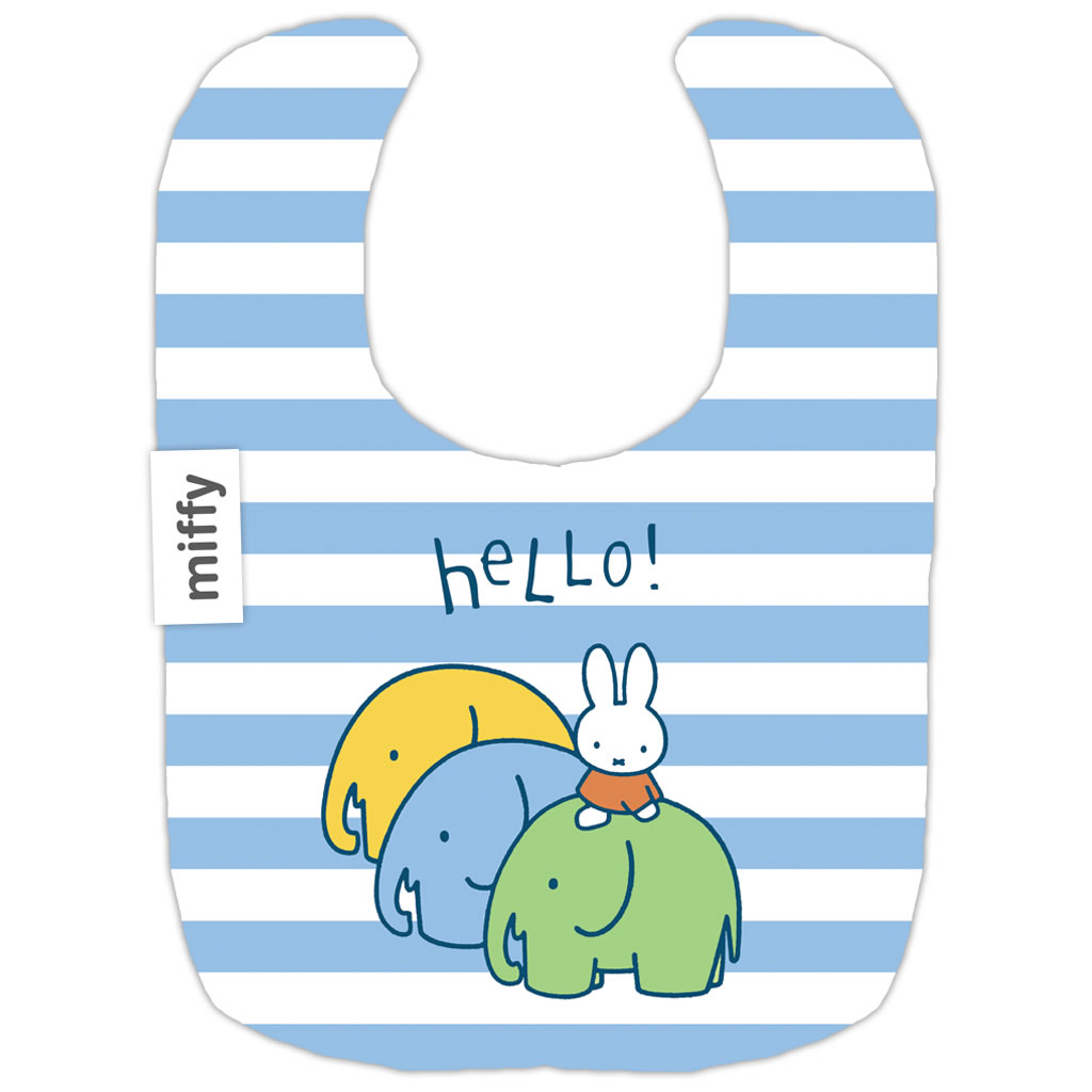 miffy elephants baby bib