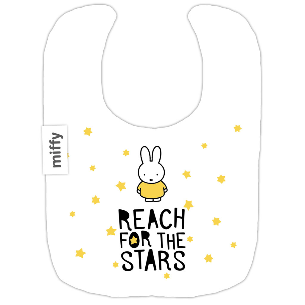 miffy reach for the stars baby bib