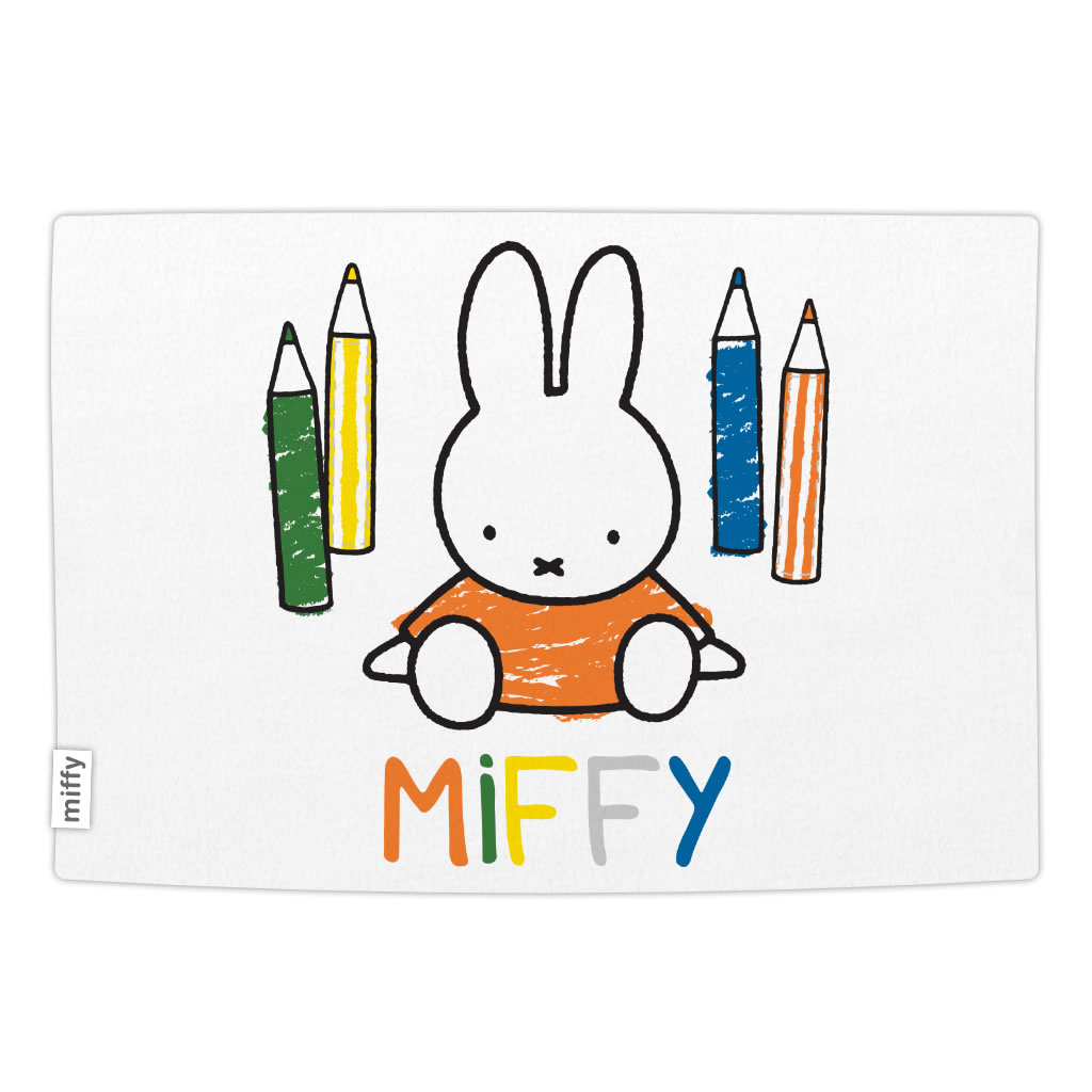 miffy colouring pencils baby blanket