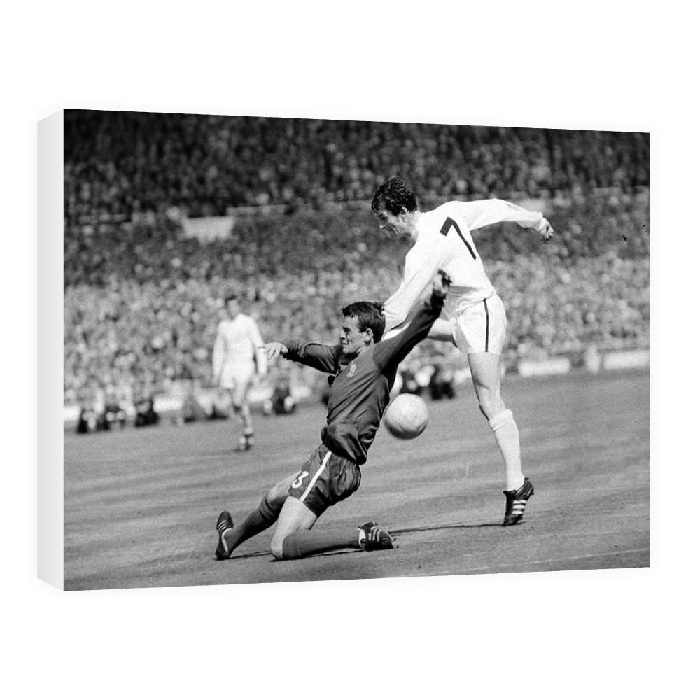 1967 FA Cup Final at Wembley, Tottenham Hotspur v Chelsea  Spurs Alan    Canvas