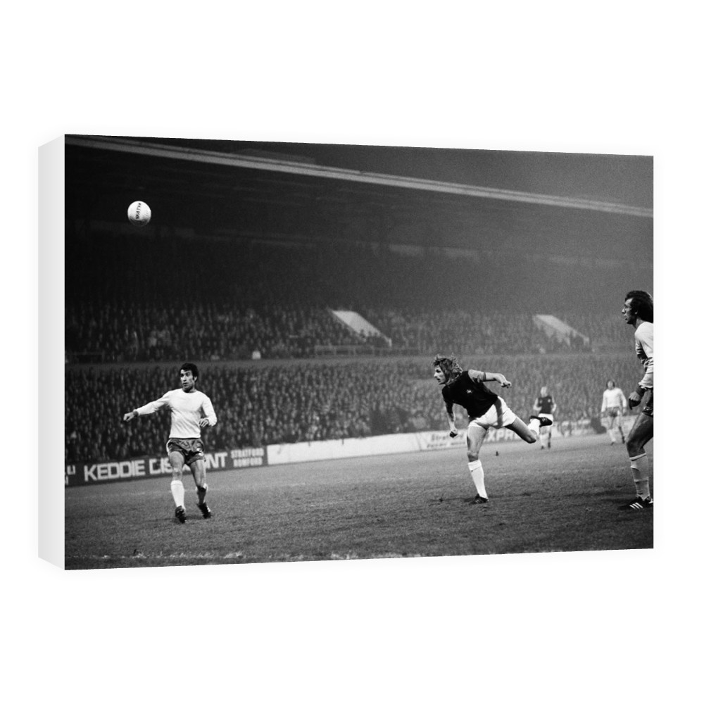European Cup Winners Cup. West Ham v Ararat Yerevan. Alan Taylor heads the.. Canvas
