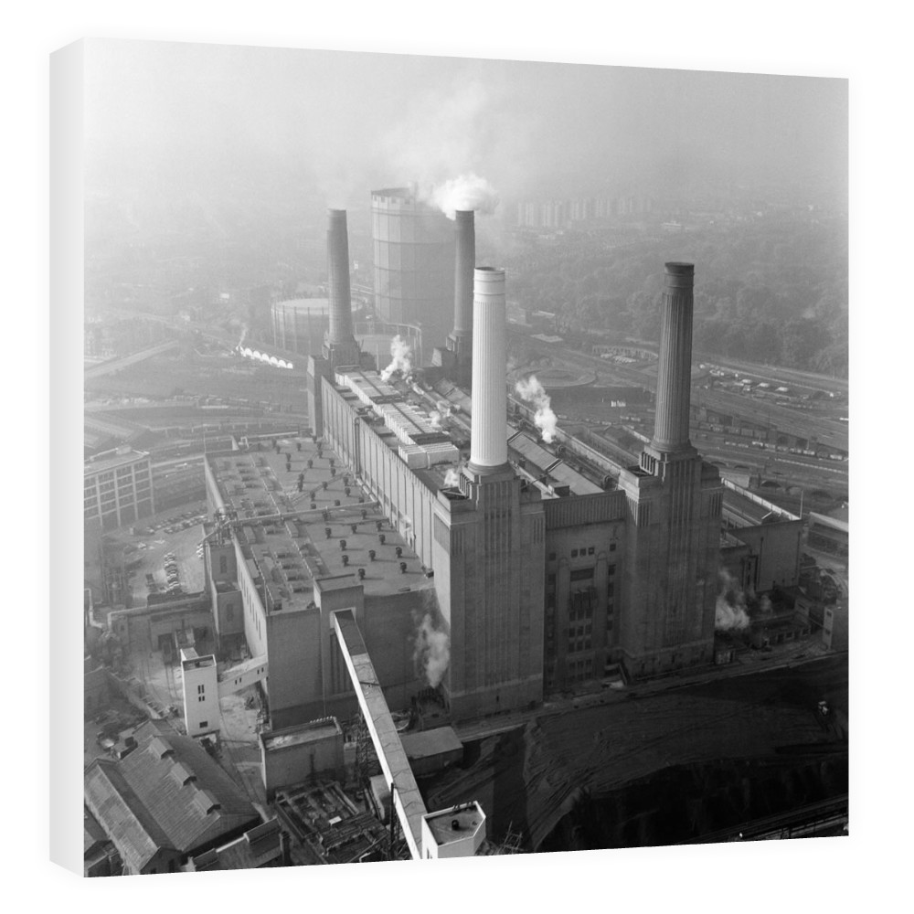 Aerial view of Battersea Power Station,.. Canvas