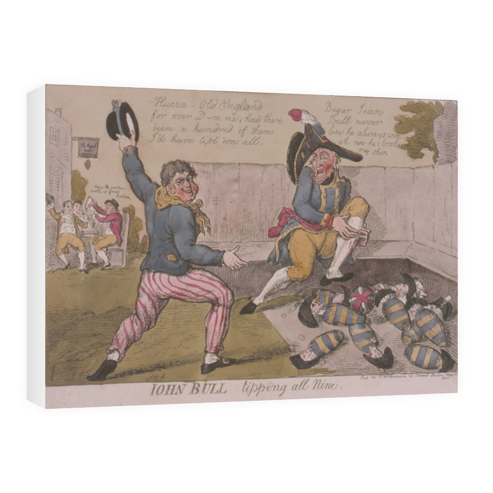 John Bull Tipping All Nine  Canvas