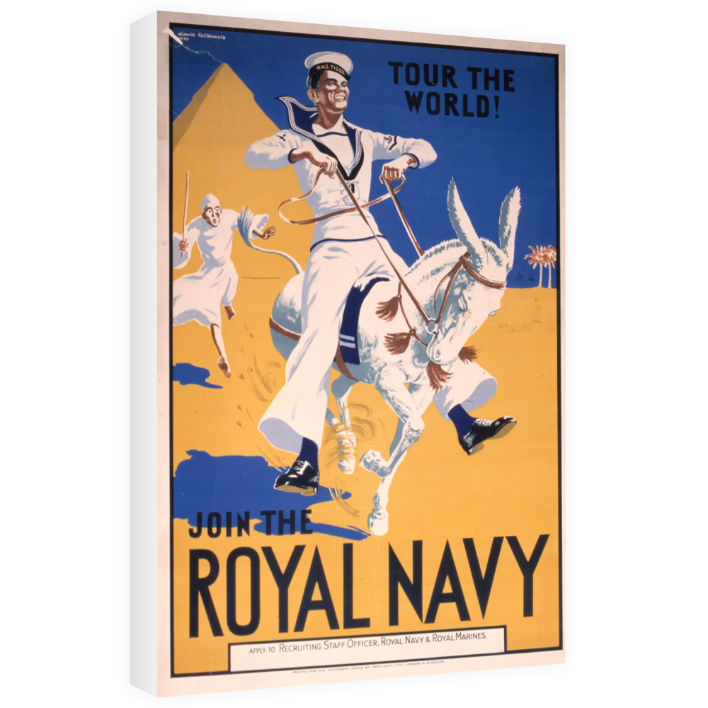 Join the Royal Navy - Tour the World Canvas