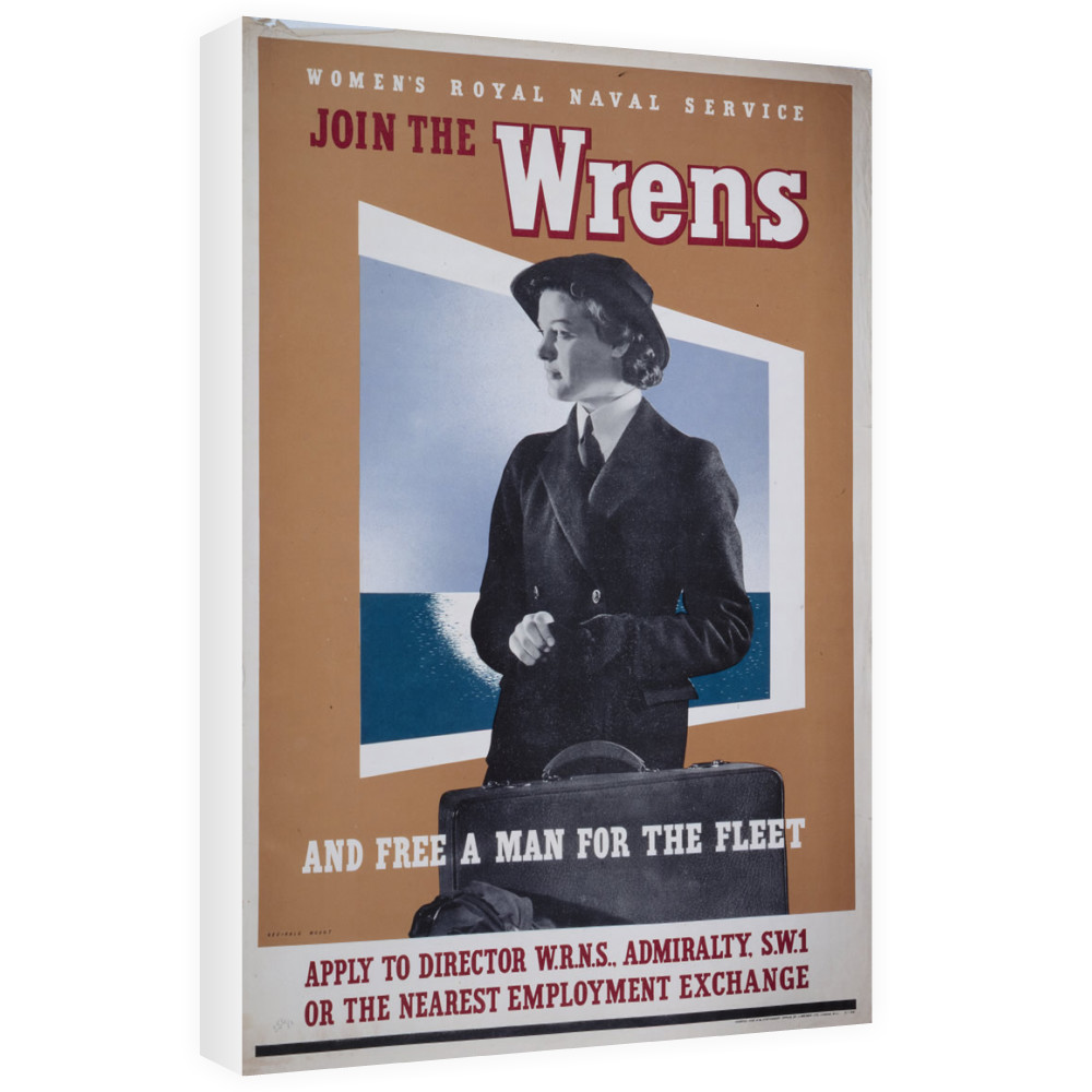 Join the Wrens and Free a Man for the Fleet Canvas