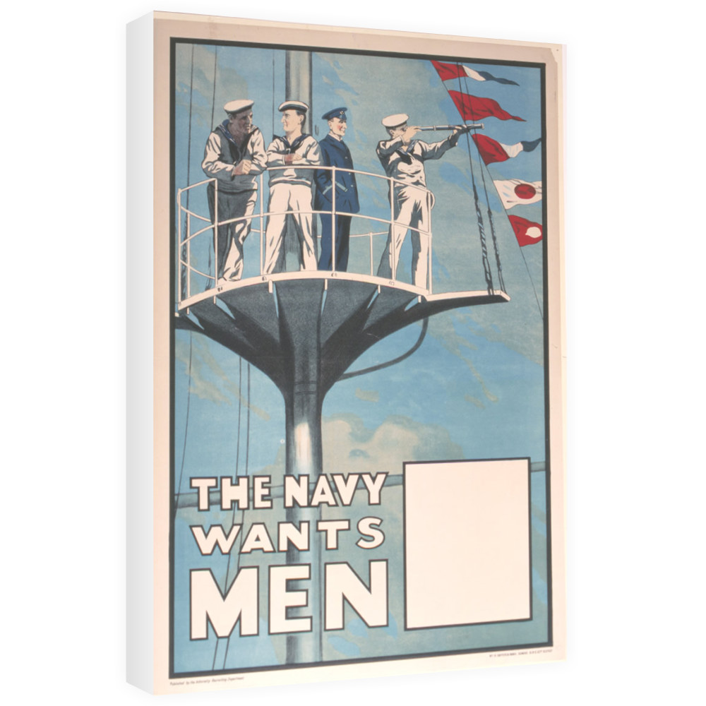 The Navy Wants Men Canvas
