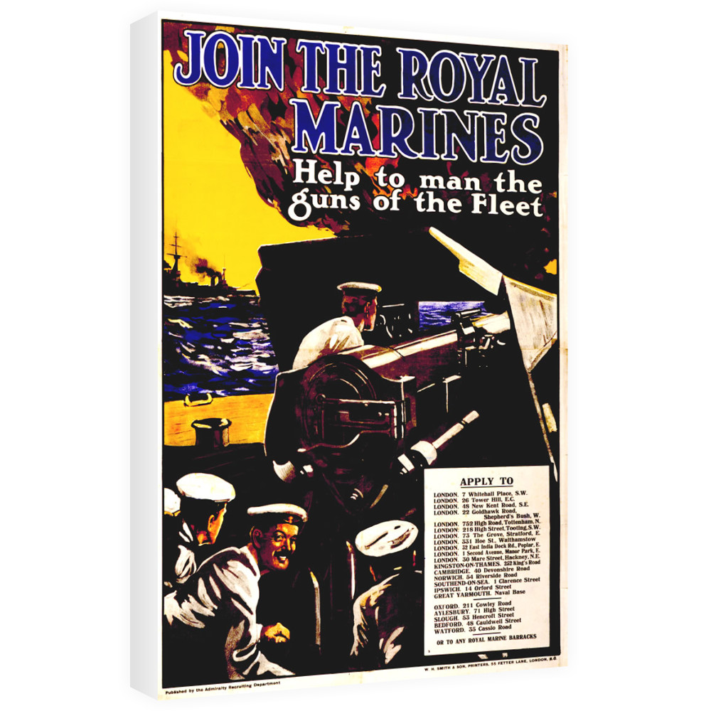 Join The Royal Marines Canvas