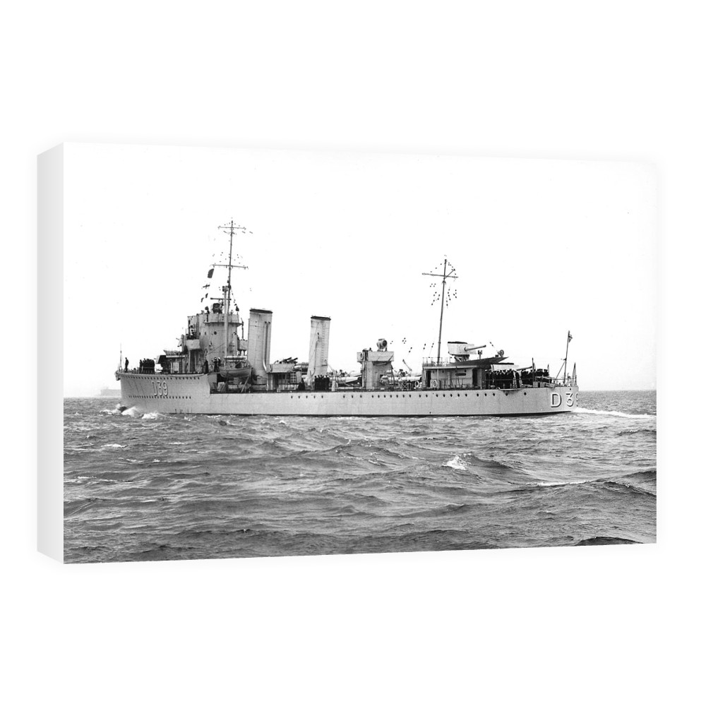 HMS Amazon Underway Canvas