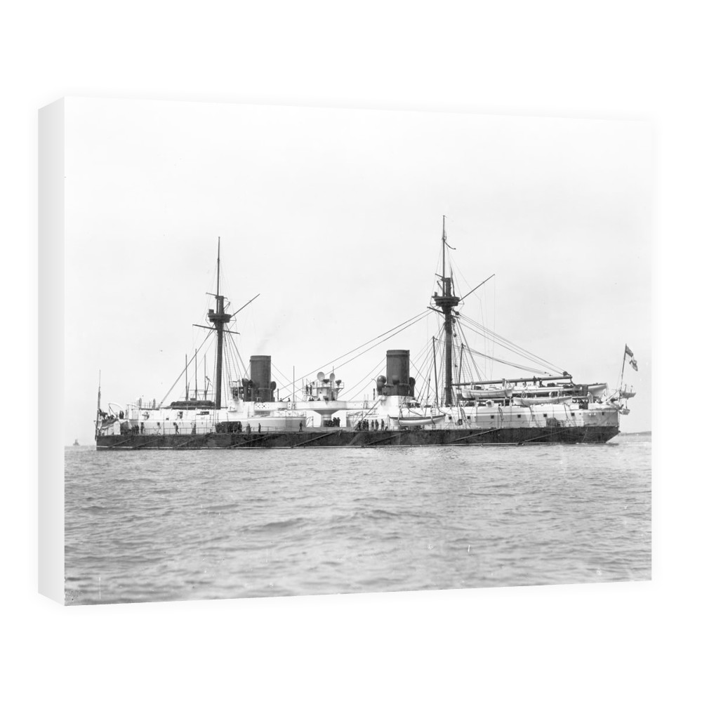 HMS Inflexible After Conversion to Military Rig Canvas