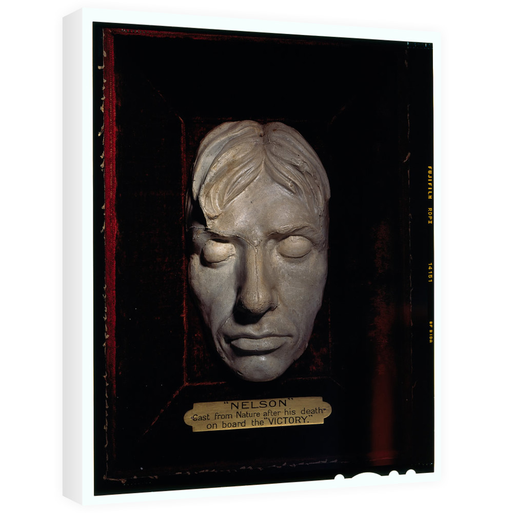 Life Mask of Admiral Lord Nelson Canvas