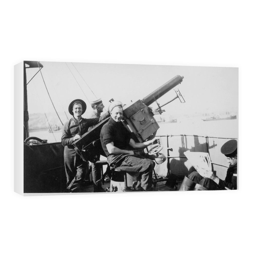 Single 2pdr Pom-pom AA Gun on HMS Brilliant Canvas