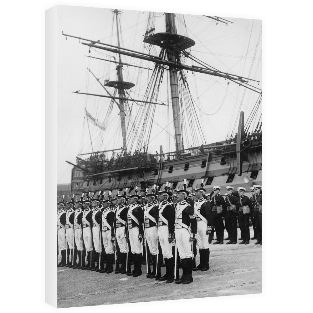 Ceremony Beside HMS Victory, 1930s Canvas