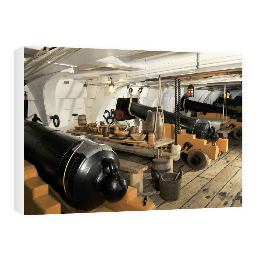 The Mess Deck on Board HMS Victory Canvas