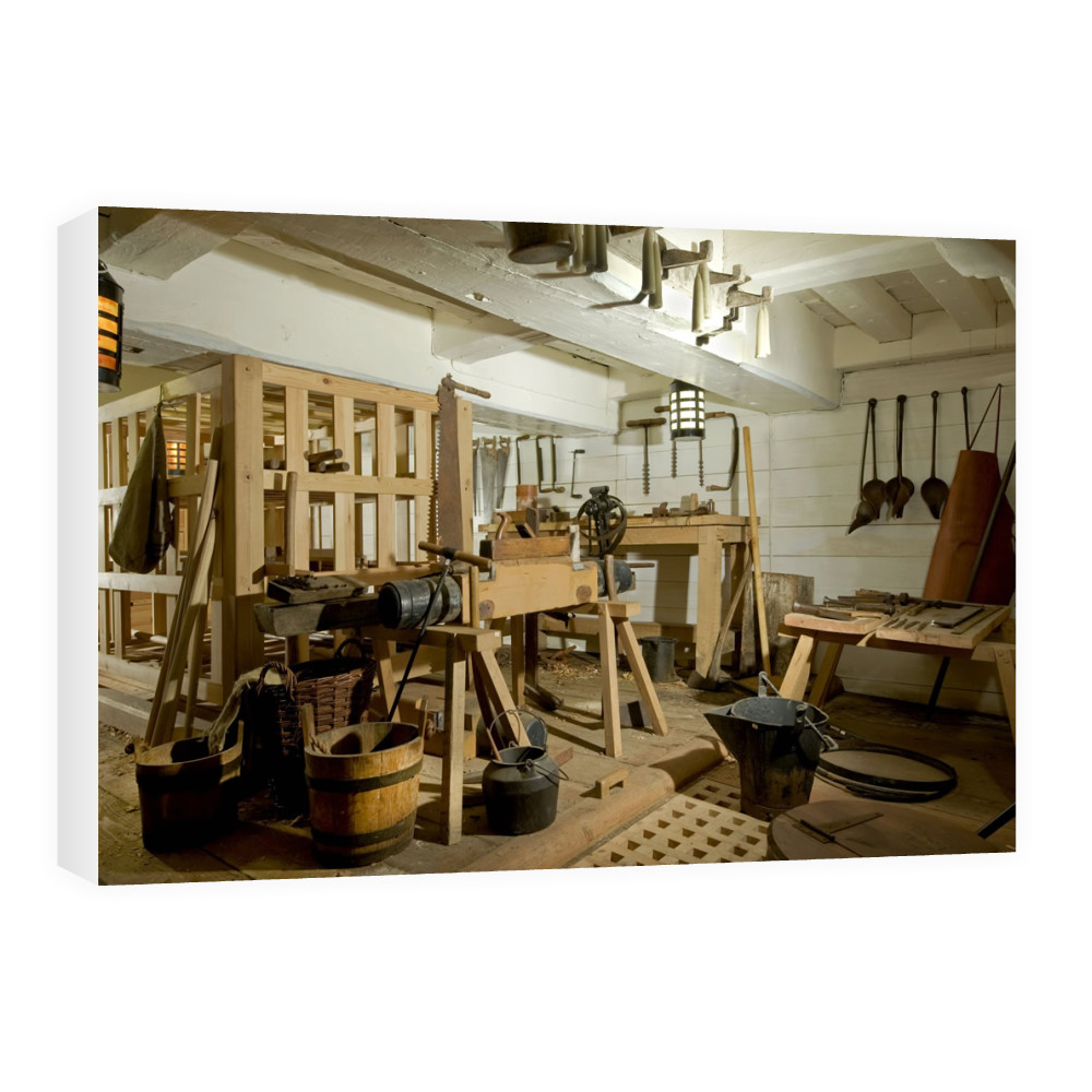 Carpenter's Workshop on HMS Victory Canvas
