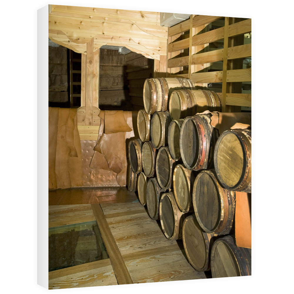 Barrels on Board HMS Victory Canvas