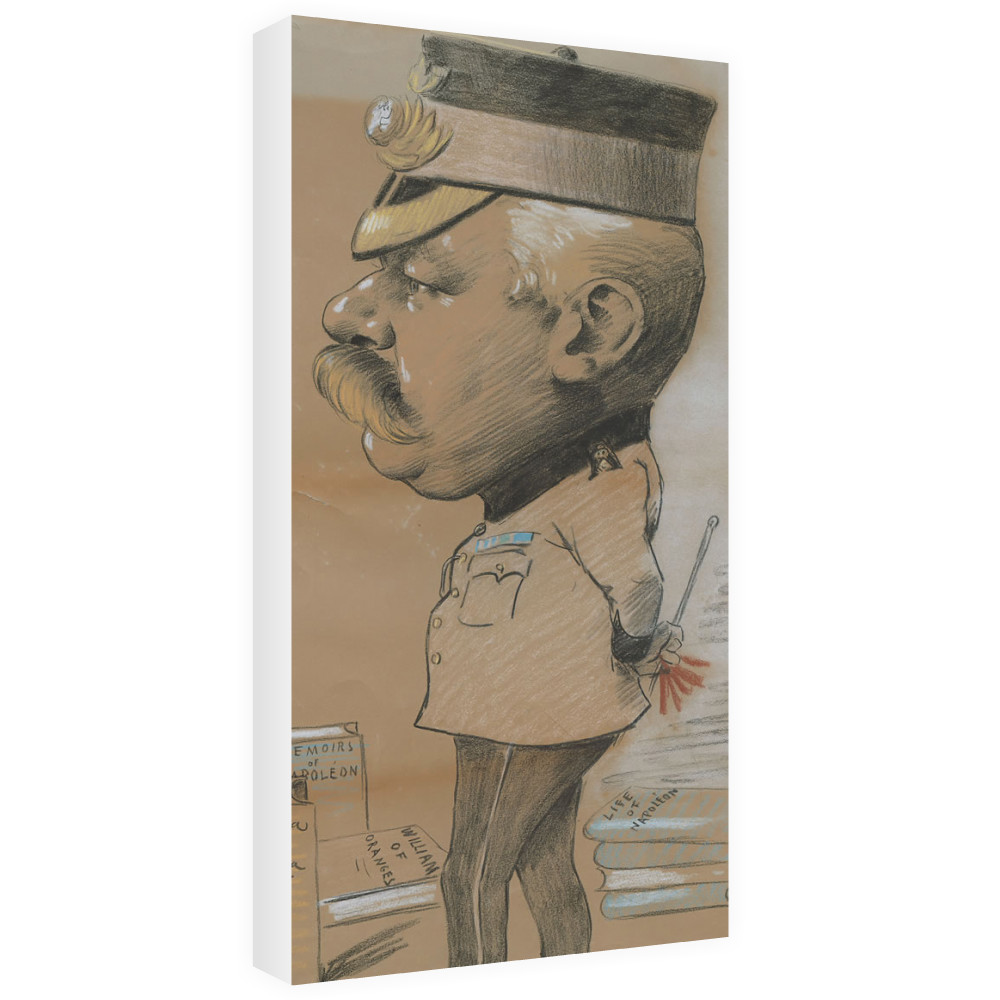 caricature, unidentified Lieutenant Colonel of the Royal Marines Light.. Canvas