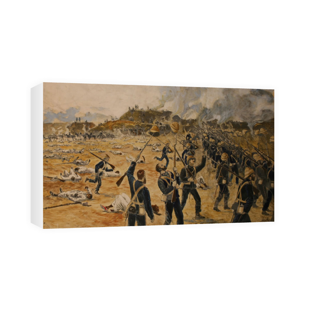 watercolour, Victory of the Royal Marines at Tel-el-Kebir, 13th September.. Canvas