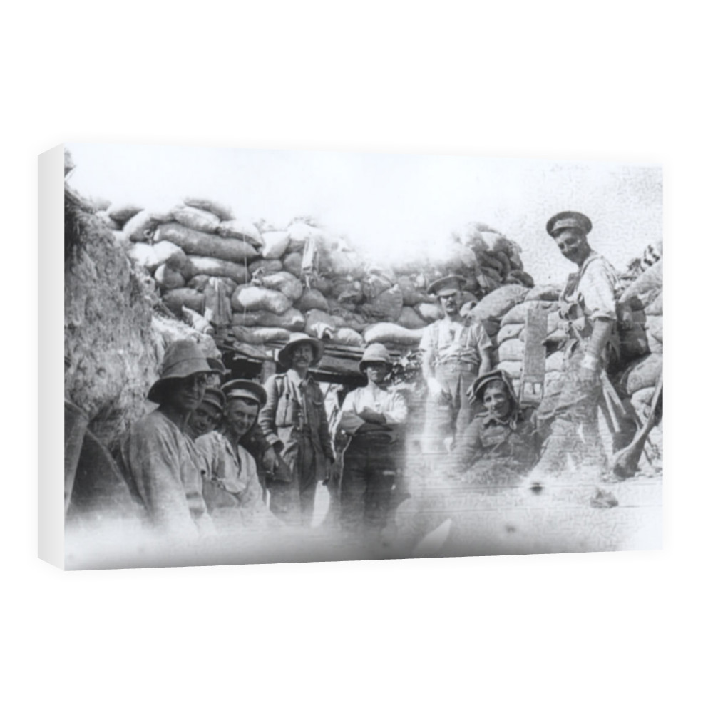 C' Company Royal Marines Light Infantry (Deal Battalion) in the trenches.. Canvas