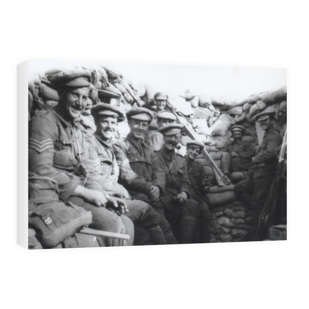 'C' Company Royal Marines Light Infantry in trenches at Gallipolli.. Canvas