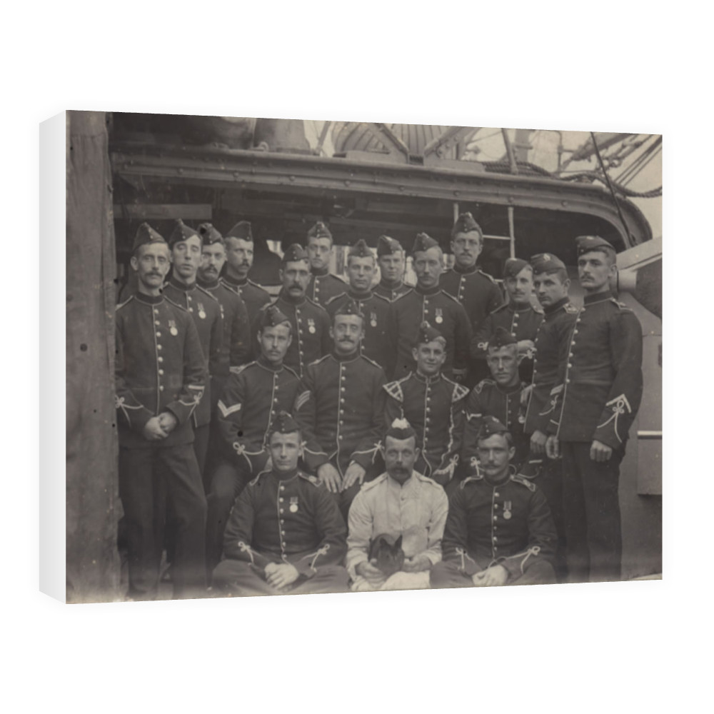 Royal Marine Light Infantry Detachment at the base ship HMS Wildfire,.. Canvas