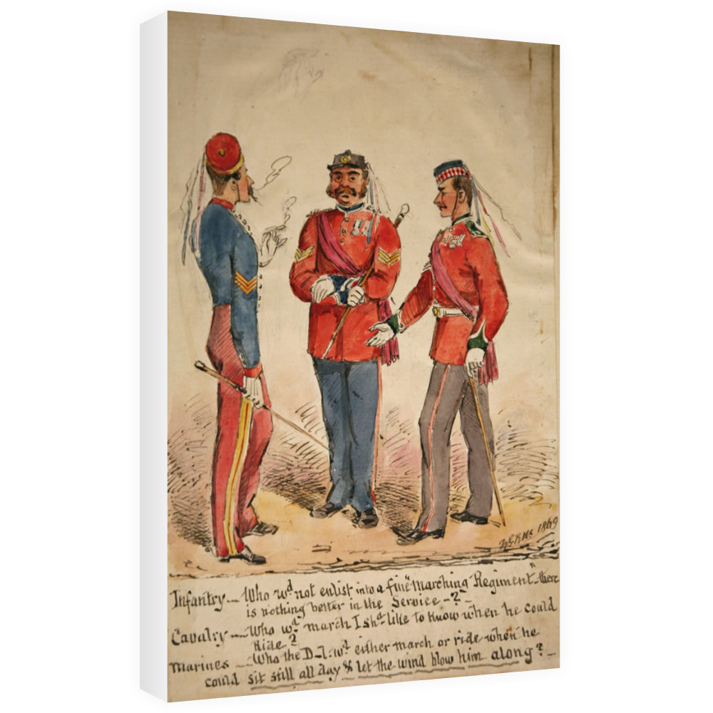 Infantry, Cavalry and Marines Discussion 1869 Canvas