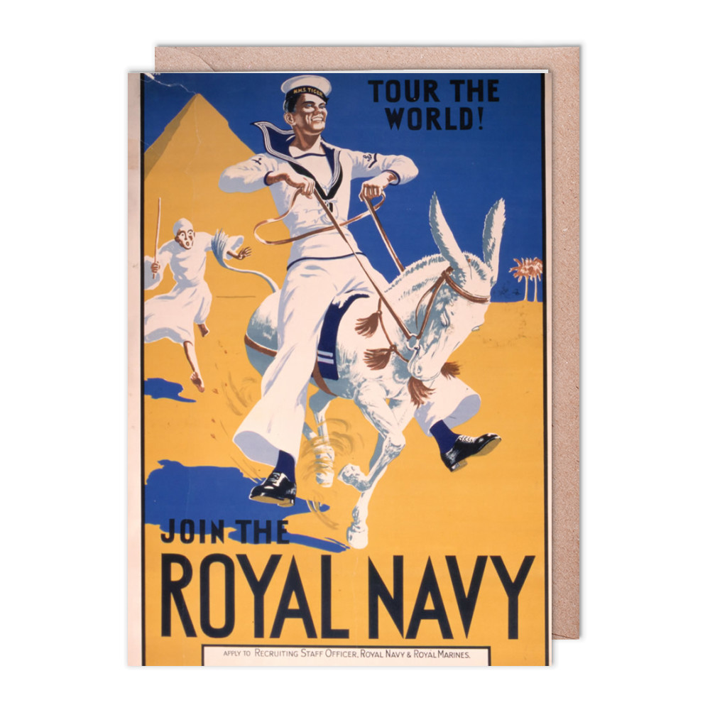 Join the Royal Navy - Tour the World Greeting Card (x2)